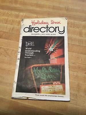 Holiday Inn Directory Vintage 1973-74