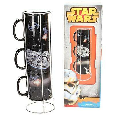 Star Wars - Death Star Stacked Cup Set - New & Official Lucasfilm Ltd In Box