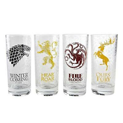 Game Of Thrones - All Houses Glass Set - New & Official HBO