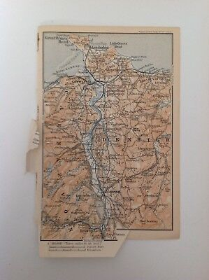 Denbigh, Carnarvon, 1897 Antique Map,  Original