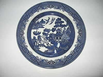 "Blue Willow China Churchilll England Dinner Plate 10.25"" - 4 Available - Ex Cond"