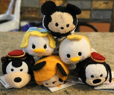 New Disney Parks TSUM TSUM TOWER OF TERROR Goofy Mickey Donald Pete - Set of 6