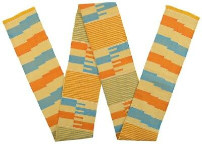 African Kente fabric cloth Ghana hand made weaving sash scarf stole Authentic