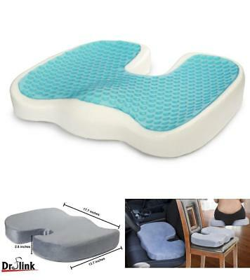Truck Driver Seat Gel Cushion Memory Foam Pain Relief Tailbone Support Pillow