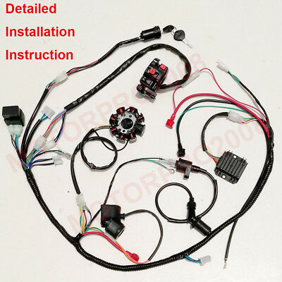 go kart gy6 wiring harness complete electrics gy6 150cc cdi stator 125cc buggy wiring harness  electrics gy6 150cc cdi stator 125cc
