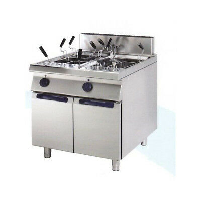 Pasta cooker professional gas 2 tanks 40+40 liters cm 80x90x85 RS0780