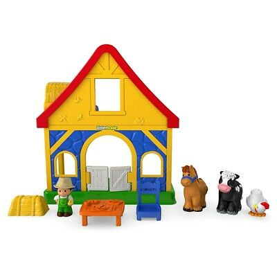 Fisher Price Little People Farm House Playset With 4 Figures Farm Animals