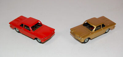 Pair Of Vintage Tootsietoy Corvair Slot Cars - Cast Metal - Very Nice Condition