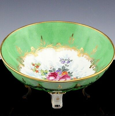 Very Pretty Antique French Hand Painted Porcelain Centerpiece Serving Bowl Birks