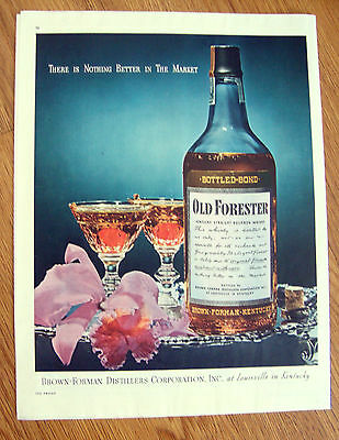 1946 Old Forester Whiskey Ad  Louisville Kentucky Nothing Better in the Market