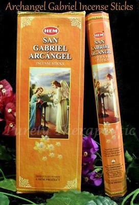 ARCHANGEL SAN GABRIEL INCENSE STICKS~Hem~Hexagonal Pack 20 Sticks~Wicca~Pagan