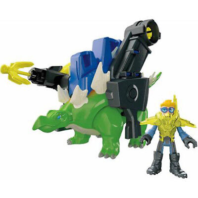 Stegosaurus Green Dinosaur With Battle Gear Fisher Price Imaginext