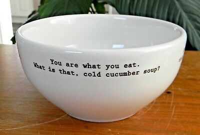 """Fishs Eddy INTERVENTION-WARE 5.75"""" SOUP CEREAL BOWL Restaurant Style VERY GOOD!"""