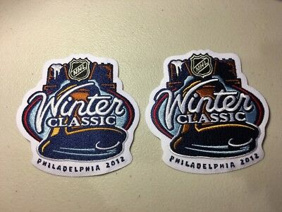 (2) 2012 NHL Winter Classic Jersey Patches New York Rangers Philadelphia Flyers