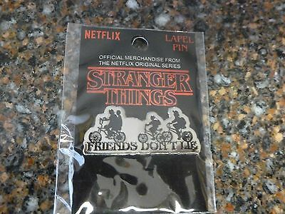 """Stranger Things """"Friends Don't Lie"""" Lapel Pin Netflix Authentic New in Plastic"""