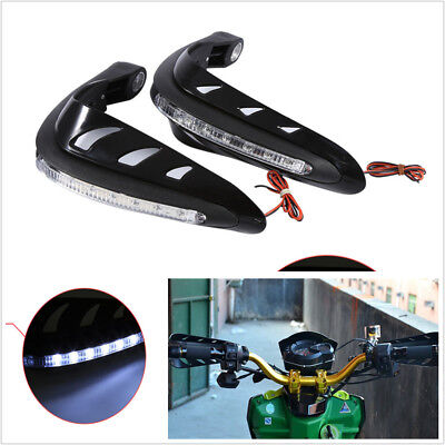 22mm Motorcycle Handlebar Mounting ABS Hand Guard Wind Protector With LED Light