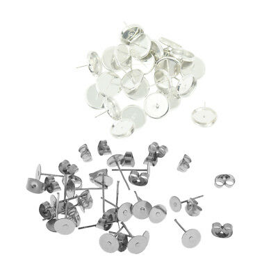 50X 5mm Invisible BASE Pad Earring Make DIY Posts Studs Pin Findings Nickel Free