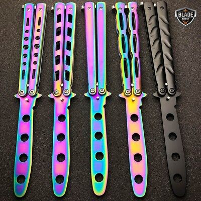 High Quality Practice BALISONG METAL BUTTERFLY Assorted Trainer Knife BLADE NEW