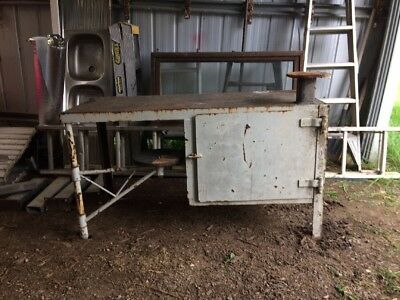 old Steel Work Bench