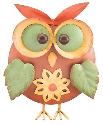 Whimsical Fun 8 Inch Brown Owl Tabletop Decor Indoor Outdoor Regal Art and Gift