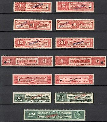 K U B A - Old Abnc Specimen Revenue Collection Mint Never Hinged