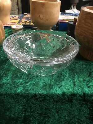 royal brierley crystal Bowl With A Twist - Rare