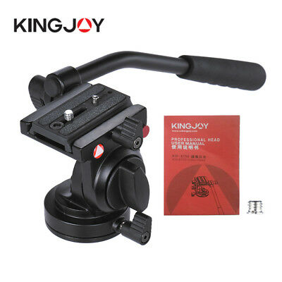 Kingjoy Flexible Aluminum Camera Tripod Head Fluid Video Tripod Head For Canon