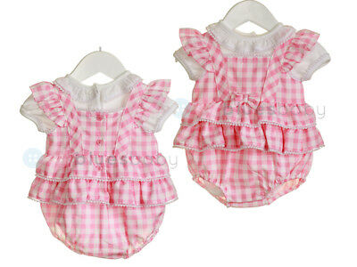 Zip Zap Baby Girls Spanish Style Romany Gingham Romper & Bodysuit Outfit SS18