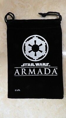 """Star Wars ARMADA """"PROMO IMPERIAL INSIGNIA DICE BAG"""" - from Summer 2015 OP Kit"""