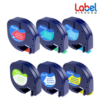 AU Stock Compatible for DYMO LetraTag XR Label Tape 12mm 4m Label Maker Plastic