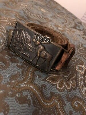 Abercrombie Kids Belt With Moose Buckle! S/M Rare Vintage AF Fitch Youth