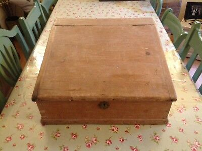Antique Solid Pine Table Top Clerks Desk