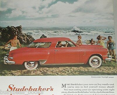 1949 STUDEBAKER advertisement, Studebaker Commander Starlight Coupe
