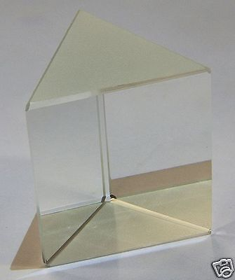 Glass prism, Equilateral, 50x50mm - large     (UK based - quick delivery - days)