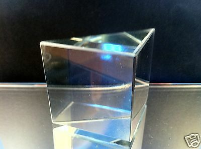 Glass prism, Right-Angle, 50x50mm - large (UK based - quick delivery - days)