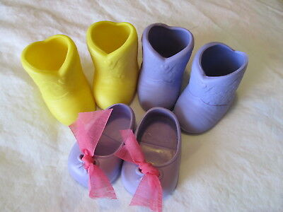 """Galoob Baby Face """"3 ORIGINAL DOLL BOOTS AND SHOES"""" lovely find!"""
