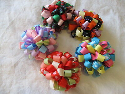 """Galoob Baby Face Doll """"GORGEOUS HAIR BOWS""""that every doll should have! HAND MADE"""