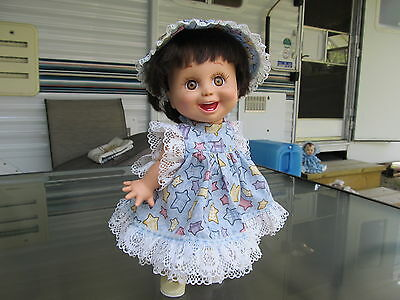 """STARS + LACE 3 piece dress set, for 13"""" Galoob Baby Face dolls"""