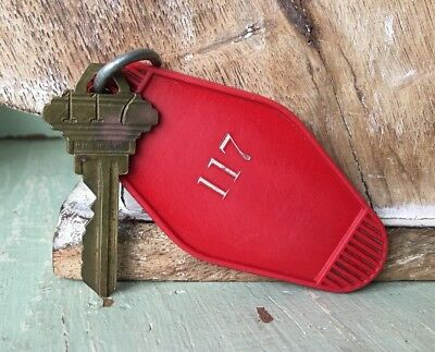 Vintage Hotel Room 117 Key And Fob
