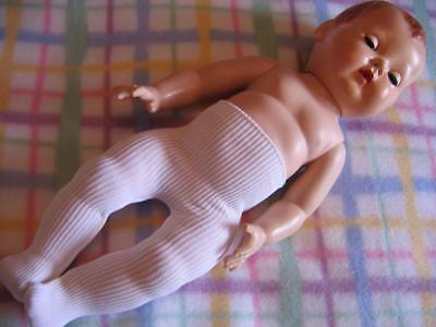 """WHITE TIGHTS for DOLLS 15"""" Tiny Tears+other dolls this size"""