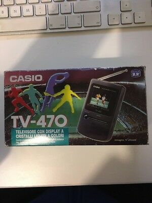 Casio Tv-470 Lcd Pocket Color Tv - Vintage - Ac/dc  Never Used!!