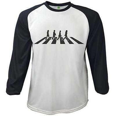The Beatles - Abbey Road Baseball Mens T-Shirt New & Official Apple Corps