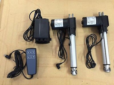 2 Linear Actuators with hand control 120V control box and limit switches