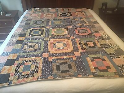 Beautiful Quality Hand Made antique quilt, approx late 19th Century