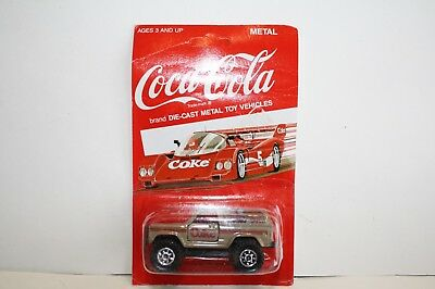 COCA COLA DIECAST BLAZER or BRONCO-1/64-BROWN-M.0.C.-1988 HARTOY
