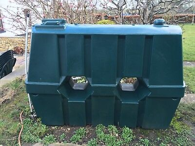 Central Heating Oil Tank, Green 1200 litres.