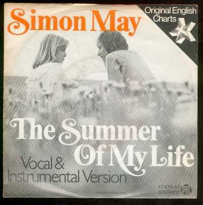 "Oldie Single 7"" Simon May - The summer of my life"