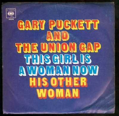 "Oldie Single 7"" Gary Puckett - This girl is a woman now"