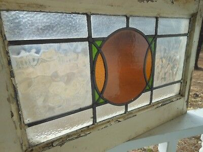 P-105 Lovely Older Leaded Stained Glass Window From England
