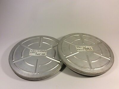"Cine film 16mm ""3 Is A Family"" (untested) 2 X 1600ft Cyldon Spools + Canisters"
